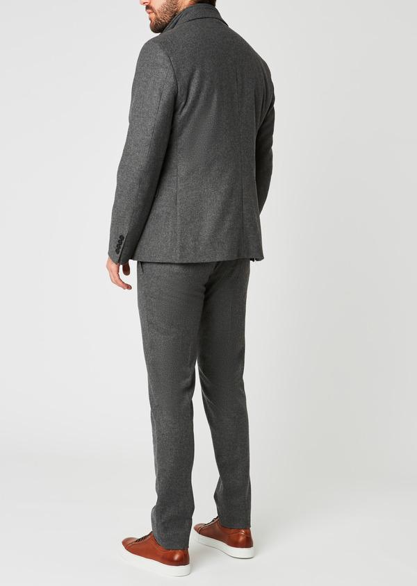 Veste coordonnable Regular en laine uni gris - Father and Sons 27107