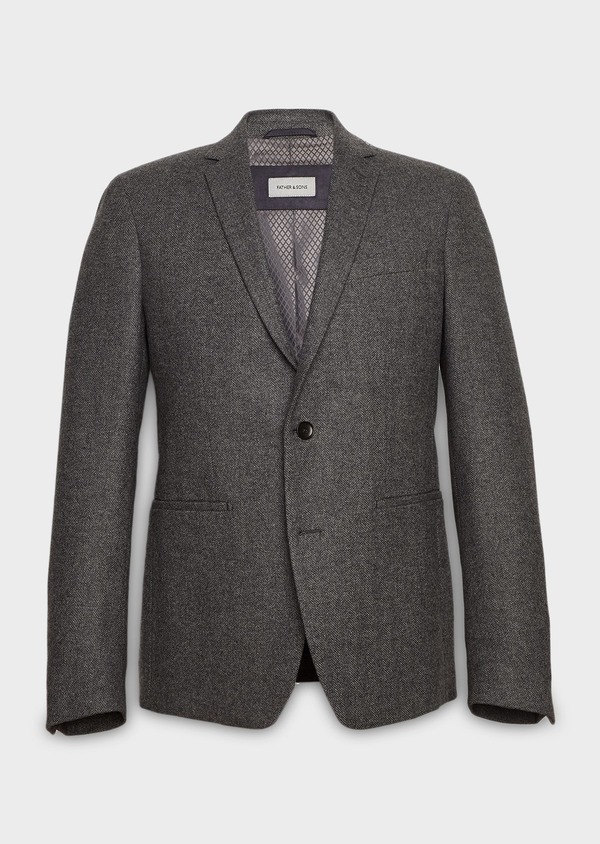 Veste casual Regular en laine uni gris - Father and Sons 27134