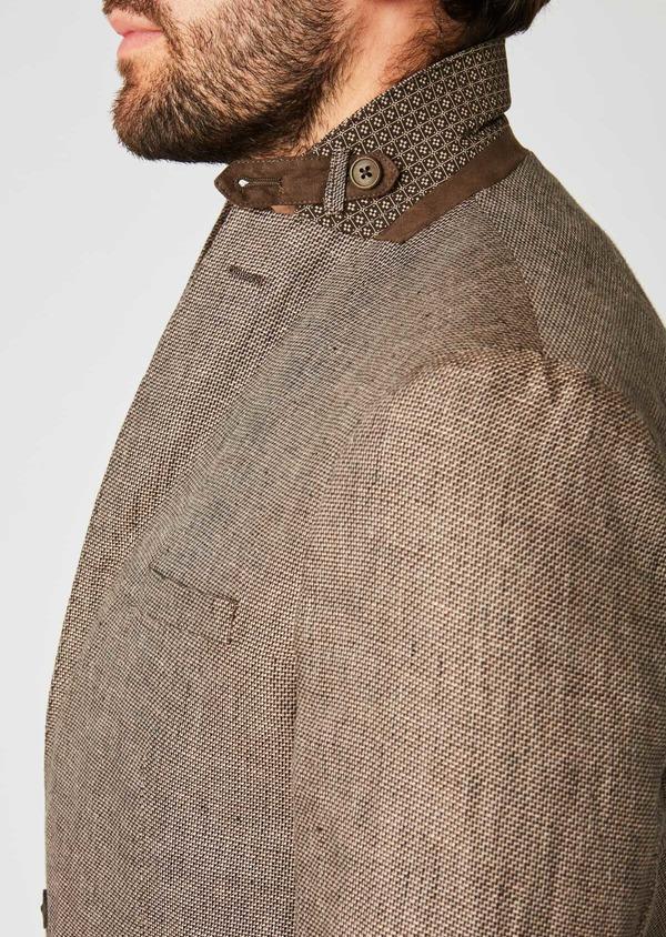 Veste casual Regular en coton natté marron - Father and Sons 20279