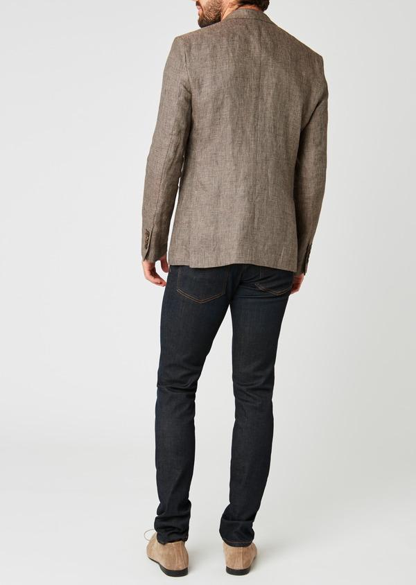 Veste casual Regular en coton natté marron - Father and Sons 20278