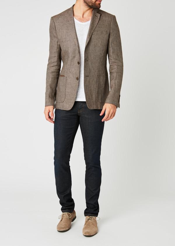 Veste casual Regular en coton natté marron - Father and Sons 20277