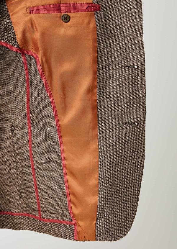 Veste casual Regular en coton natté marron - Father and Sons 20281
