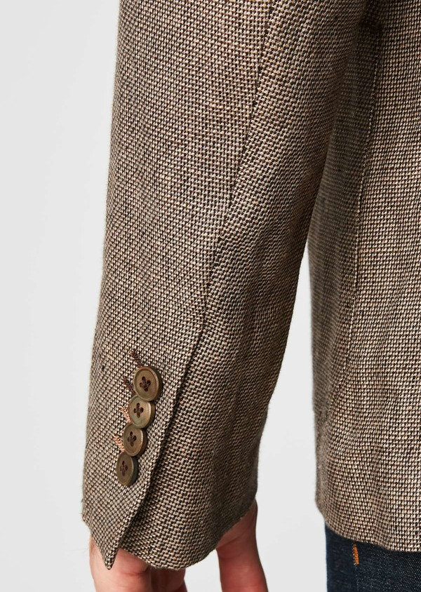 Veste casual Regular en coton natté marron - Father and Sons 20280