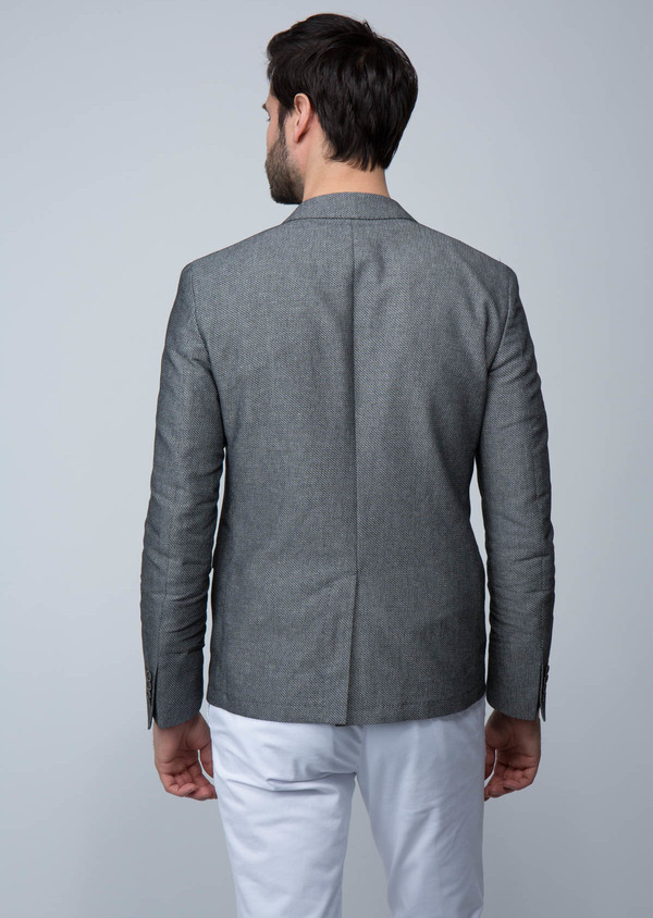 Veste casual slim unie grise - Father and Sons 18721