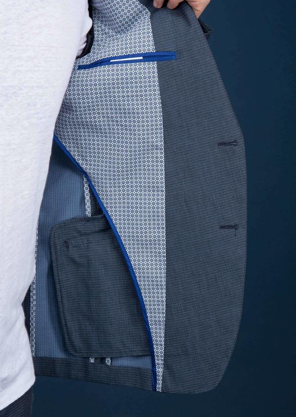 Veste casual slim bleue à motifs - Father and Sons 18730
