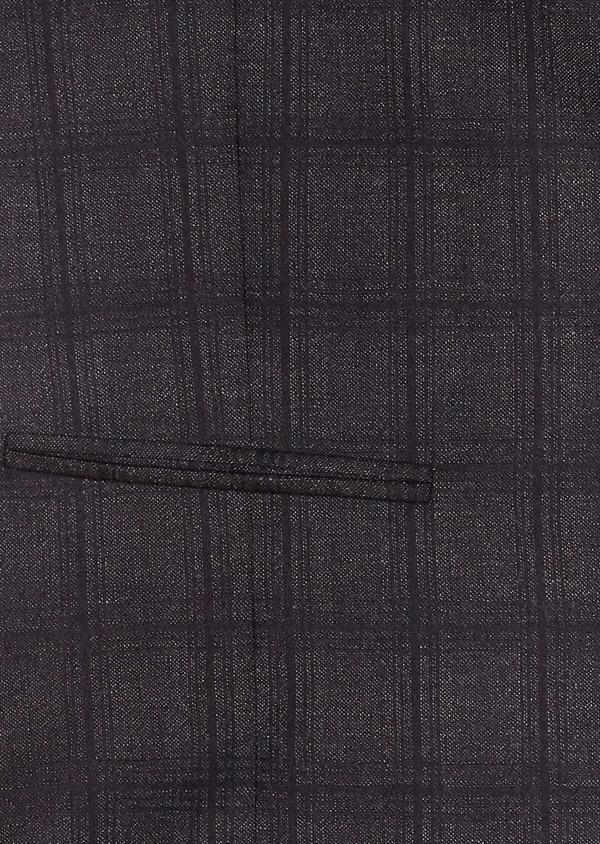 Veste casual Slim en laine gris anthracite Prince de Galles - Father and Sons 31532