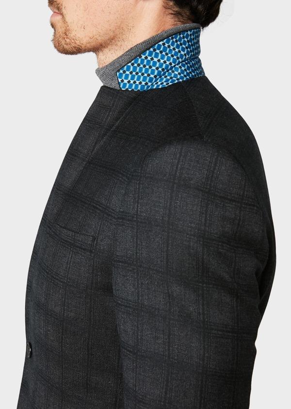 Veste casual Slim en laine gris anthracite Prince de Galles - Father and Sons 31535