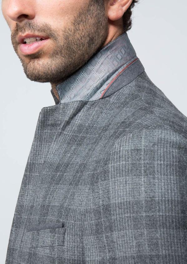 Veste casual Regular en laine mélangée grise Prince de Galles - Father and Sons 29133