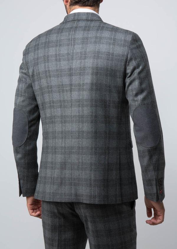 Veste casual Regular en laine mélangée grise Prince de Galles - Father and Sons 29132