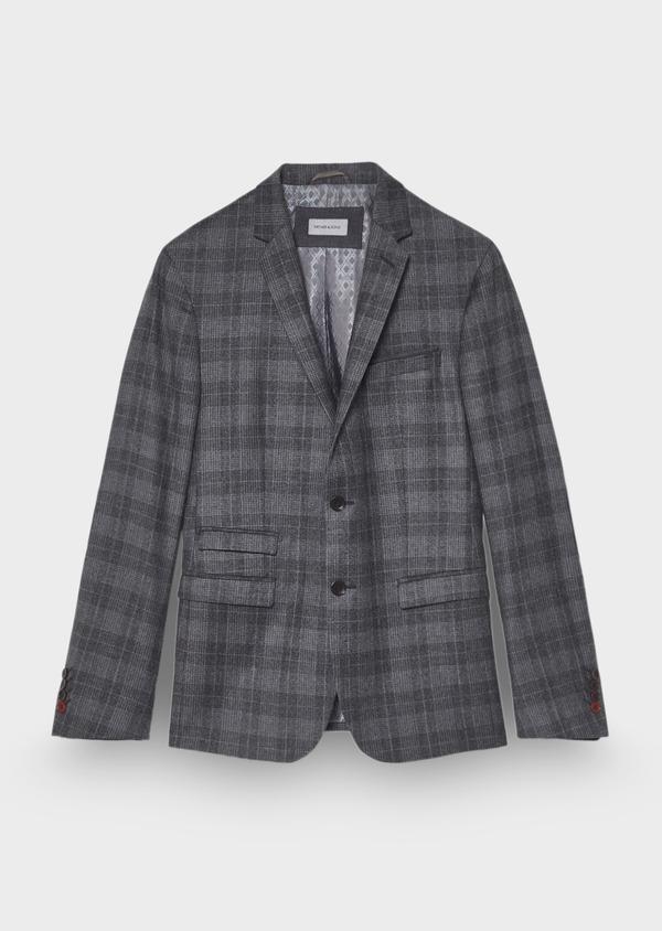 Veste casual Regular en laine mélangée grise Prince de Galles - Father and Sons 29130