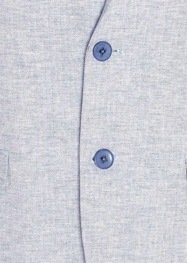 Veste coordonnable Regular en lin et coton uni bleu ciel - Father and Sons 33635