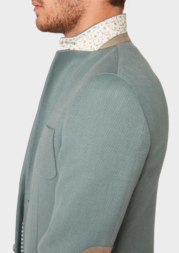 Veste casual Regular en coton mélangé uni vert foncé - Father and Sons 33680