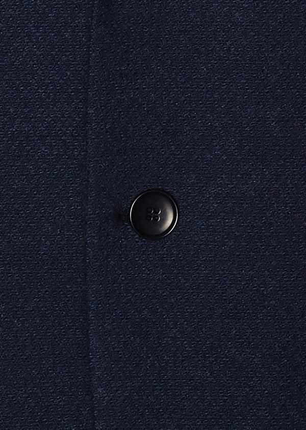 Veste casual Regular en coton mélangé uni bleu marine - Father and Sons 33612
