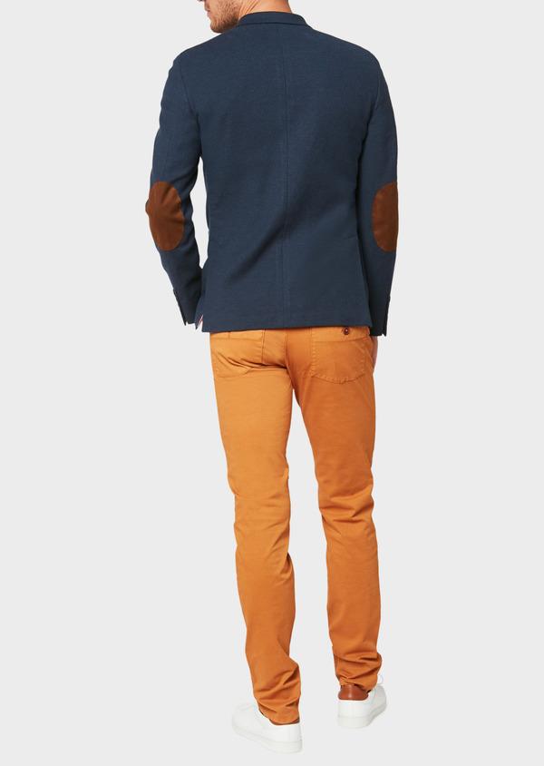 Veste casual Regular en coton mélangé uni bleu marine - Father and Sons 33614