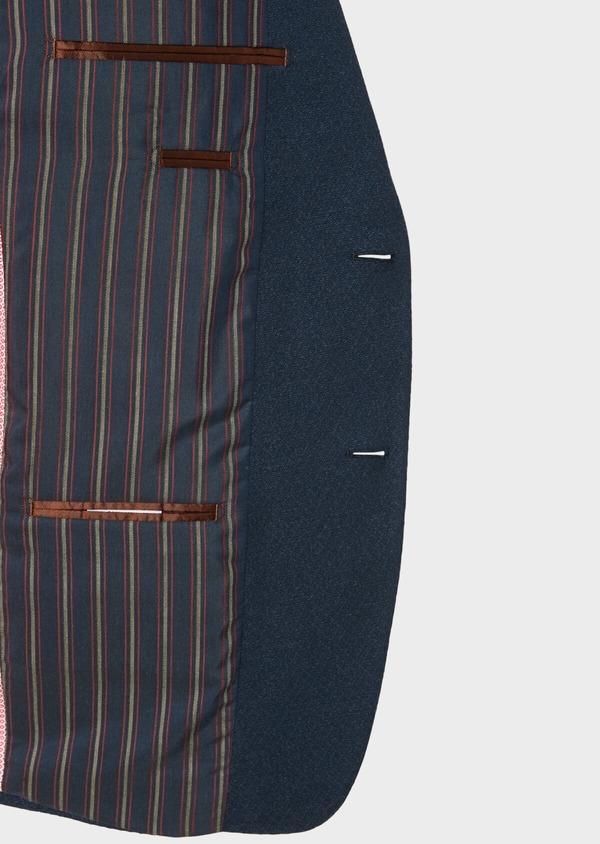 Veste casual Regular en coton mélangé uni bleu marine - Father and Sons 33617