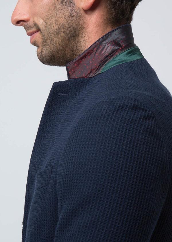 Veste casual Regular en laine et coton unis bleus - Father and Sons 29189