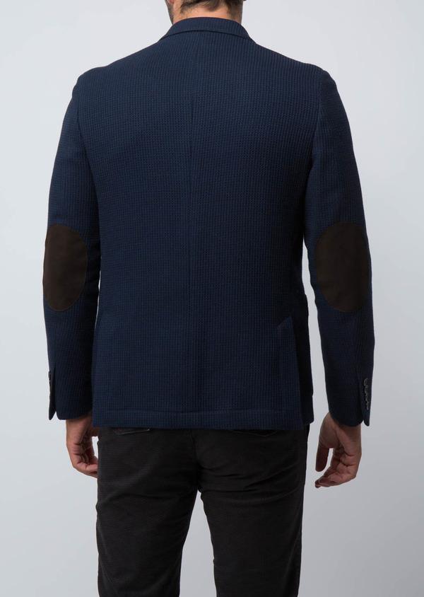 Veste casual Regular en laine et coton unis bleus - Father and Sons 29188