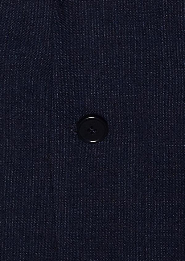 Veste de costume voyage Regular en laine unie bleu marine - Father and Sons 31840