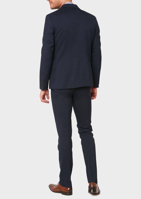 Veste de costume voyage Regular en laine unie bleu marine - Father and Sons 31842