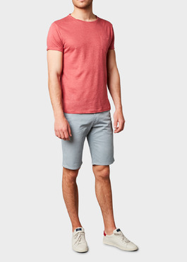 Bermuda en coton stretch uni gris 2 - Father And Sons