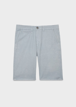 Bermuda en coton stretch uni gris 1 - Father And Sons