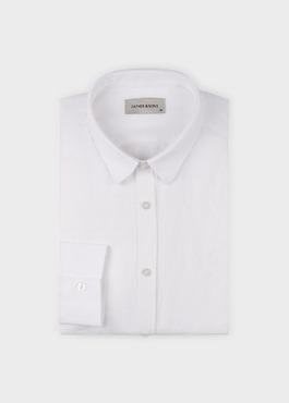 Chemise sport Slim en lin uni blanc 1 - Father And Sons