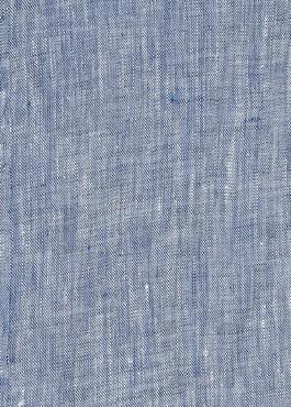 Chemise sport Slim en lin uni bleu jeans 2 - Father And Sons