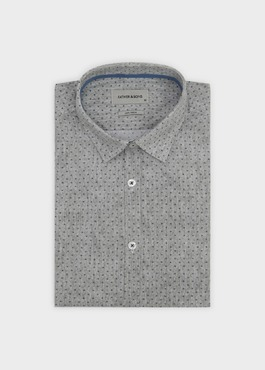 Chemise sport Regular en chevron à pois bleus 1 - Father And Sons