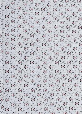 Chemise manches courtes Slim en popeline de coton blanche à motif fleuri 2 - Father And Sons