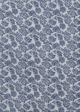 Chemise manches courtes Slim en popeline de coton à motif fleuri bleu 2 - Father And Sons