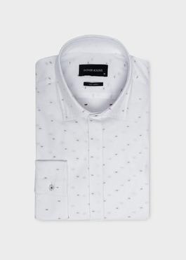Chemise habillée Slim en coton façonné à motifs fantaisie 1 - Father And Sons