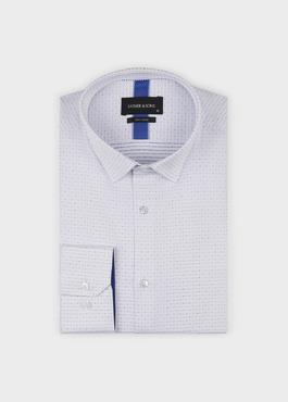 Chemise habillée Slim en coton à pois bleus 1 - Father And Sons