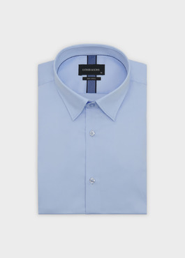 Chemise habillée Slim en coton façonné bleu ciel 1 - Father And Sons