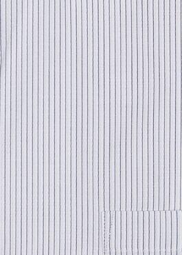 Chemise habillée Slim en coton façonné rayée noire 2 - Father And Sons