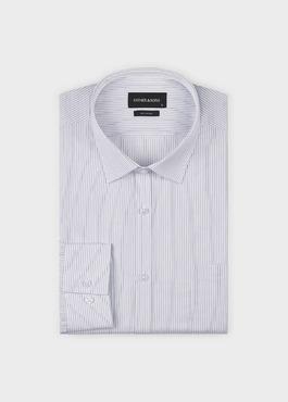 Chemise habillée Slim en coton façonné rayée noire 1 - Father And Sons