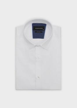 Chemise habillée Slim en satin blanc 1 - Father And Sons