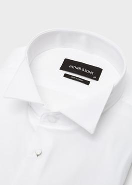 Chemise habillée Slim en satin blanc à col cassé 2 - Father And Sons