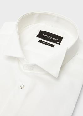 Chemise habillée Slim en satin écru à col cassé 2 - Father And Sons