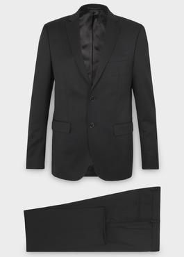 Costume 2 pièces Regular en laine Vitale Barberis Canonico unie noire 1 - Father And Sons
