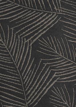 Cravate fine en soie noire à motif fantaisie beige 2 - Father And Sons