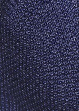 Cravate fine en tricot de soie unie marine 2 - Father And Sons
