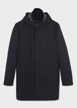 Trench droit uni bleu marine 1 - Father And Sons