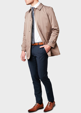 Trench droit uni marron clair 2 - Father And Sons