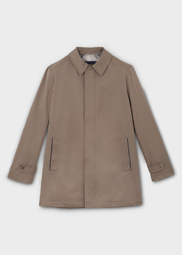 Trench droit uni marron clair 1 - Father And Sons