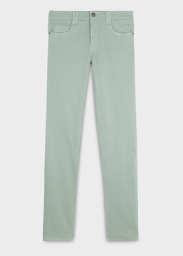 Jean skinny en coton hyperflex uni vert 1 - Father And Sons