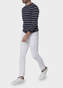 Jean skinny en coton hyperflex uni blanc 2 - Father And Sons