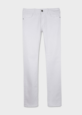 Jean skinny en coton hyperflex uni blanc 1 - Father And Sons