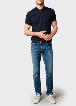 Jean skinny en coton hyperflex bleu délavé 2 - Father And Sons