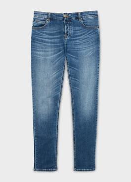 Jean skinny en coton hyperflex bleu délavé 1 - Father And Sons