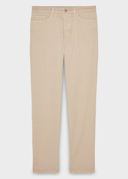 Chino slack skinny en coton stretch uni beige 1 - Father And Sons